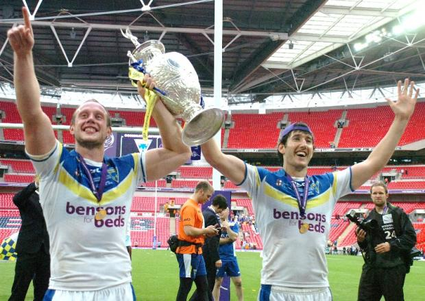 Chris Hill and Stefan Ratchford celebrate at Wembley in 2012