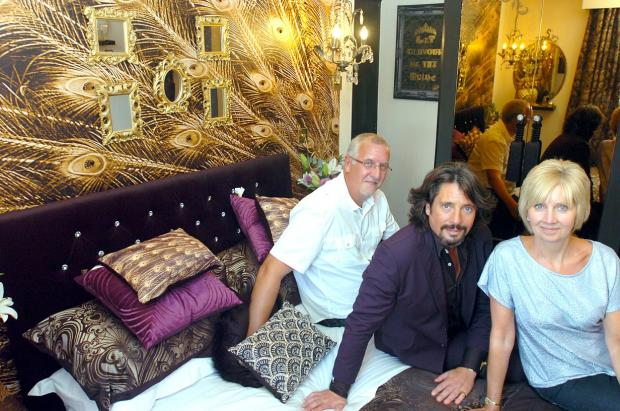 Laurence Llewelyn-Bowen with Georgina and Ivan Baracksai