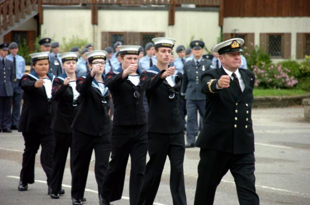 Veterans and cadets walk for Battle of Britain parade