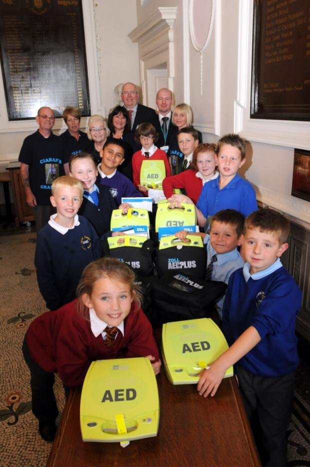 More schools get defibrillators thanks to Ciaran's Cause