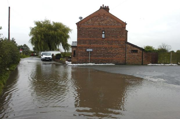 Flooding at Fiddler's Ferry