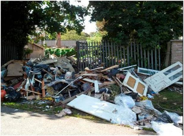 Town low on fly tipping list