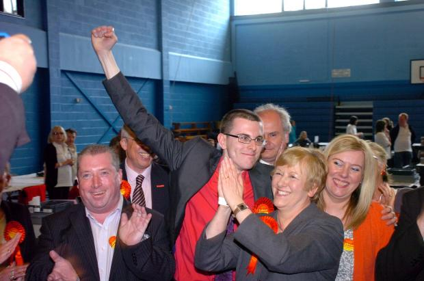 Clr Vobe with Helen Jones MP after winning the Culcheth seat in May