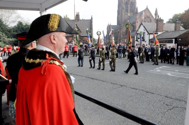 Regimental Sunday takes place
