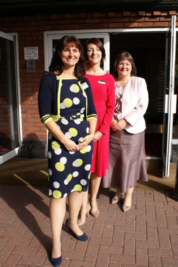 Warrington Business Network hosts Tracy Griffiths, Hayley Brown and director of the Business Network group, Helen Bennett