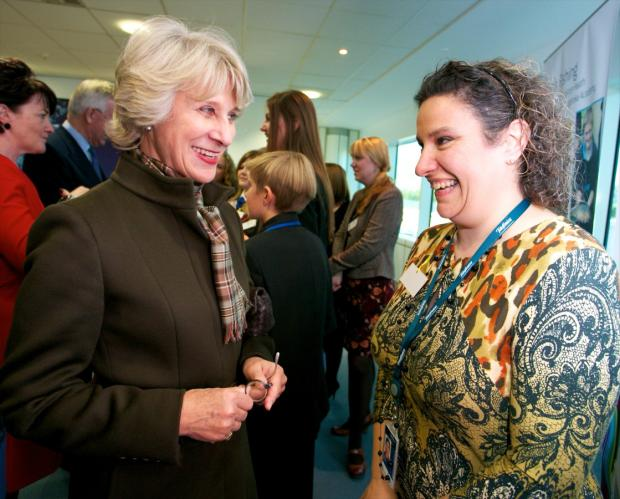 The Duchess met Justine Rogers, from Bewsey, who is a PA at O2. She was presented to HRH in recognition of her efforts with Think Big