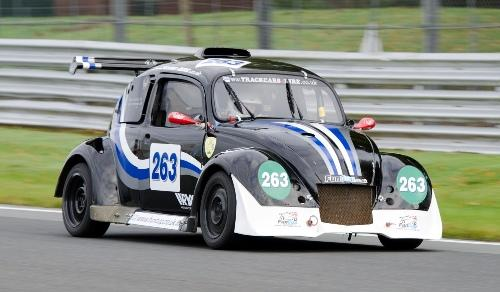Warrington based Abraham de Groot and Stephen Johansen in their 1800cc VW powered 'beetle' shaped racing single seater. Pictures by Mike Lyne