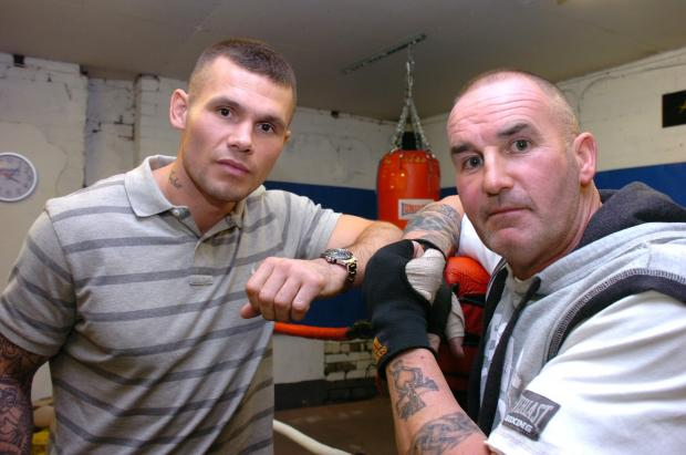 Martin Murray with gym owner John Murphy