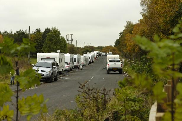 Travellers return to Risley