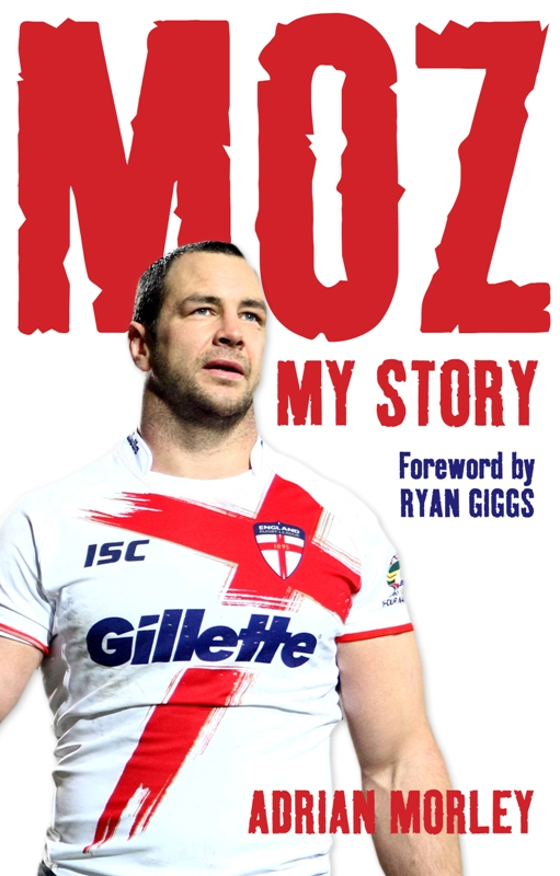 Front cover of Adrian Morley's autobiography