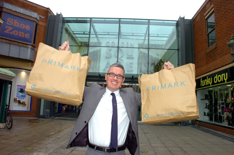 General manager Ian Cox celebrates Primark's arrival in Warrington