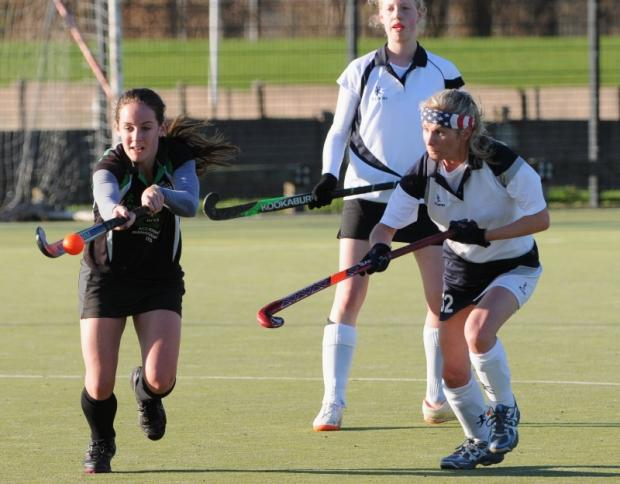 Lymm's ladies in action against Winnington Park