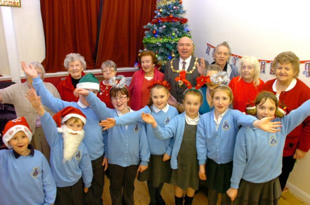 Pupils from Our Lady's Catholic Primary School in fine voice for a Christmas party at St Margaret's Community Hub on Lindley avenue