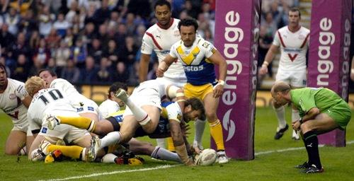 A Paul Wood try against St Helens in 2010