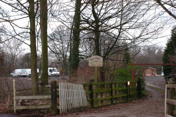 The site on Cartridge Lane, Grappenhall