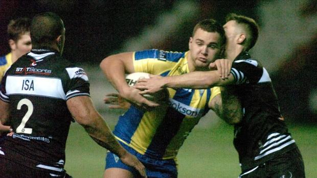 Danny Bridge in action for Wolves against Widnes on Boxing Day