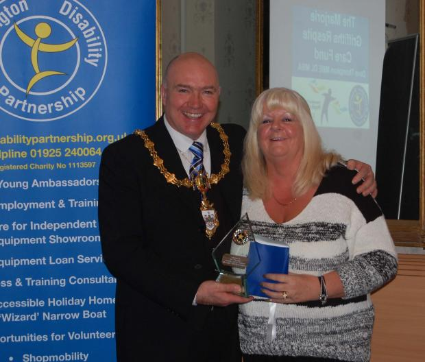 Pam Thompson with Mayor Clr Steve Wright