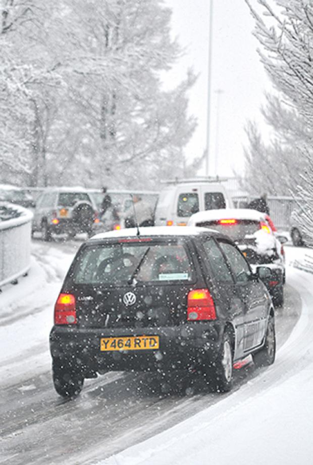 Snow warning to motorists in Warrington