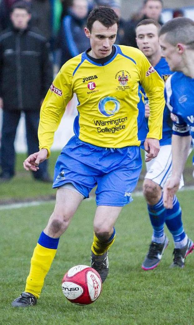 New recruit Jon Newby in action for Town on Saturday.	Picture: JOHN HOPKINS