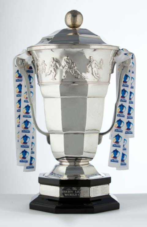 Warrington Guardian: Rugby League World Cup trophy