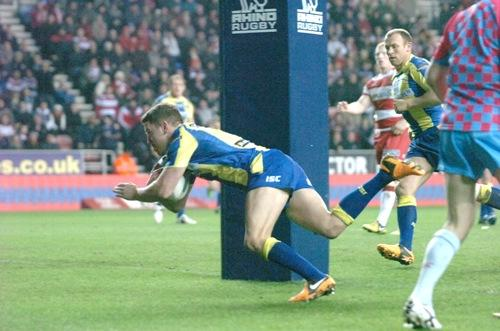 Try time for Richie Myler. Pictures by Mike Boden