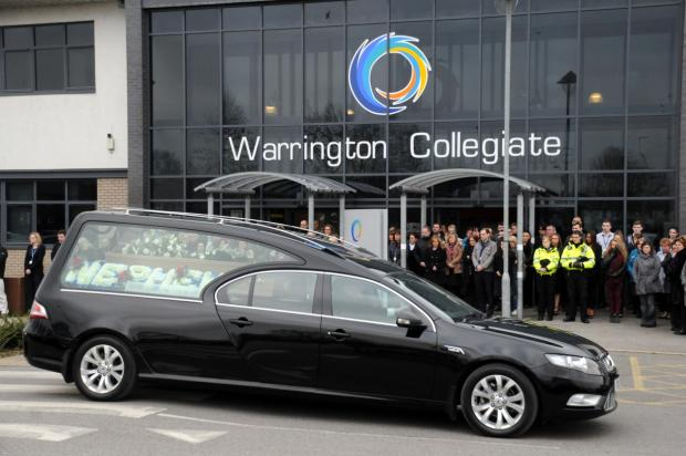 The cortege at Warrington Collegiate
