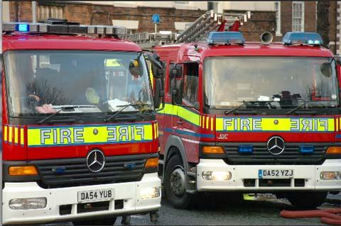 Firefighters were called to the house on Friday at 3.25pm