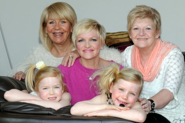 Mel with daughters Darcy and Lois and mum and mother in law