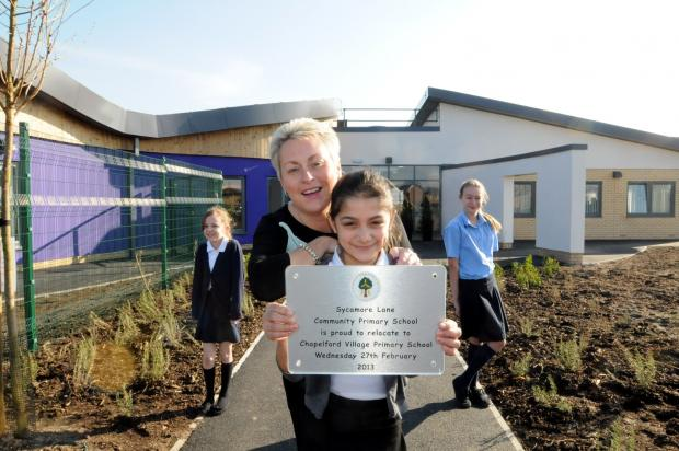 The £4.7 million Chapelford Primary School opened last week in the urban village