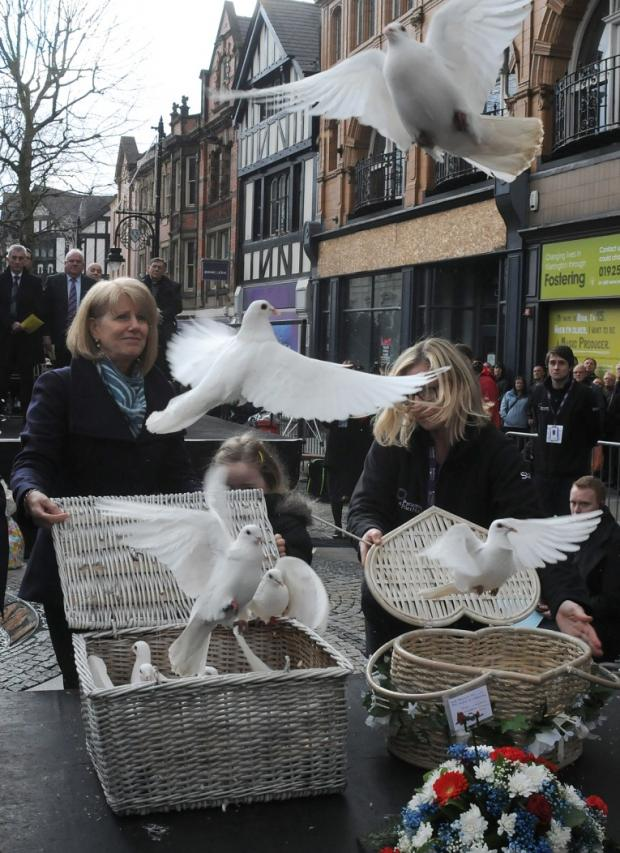 Doves released by Wendy Parry