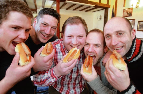 Warrington Guardian: Maldon: Pub goers battle it out in hot dog eating contest