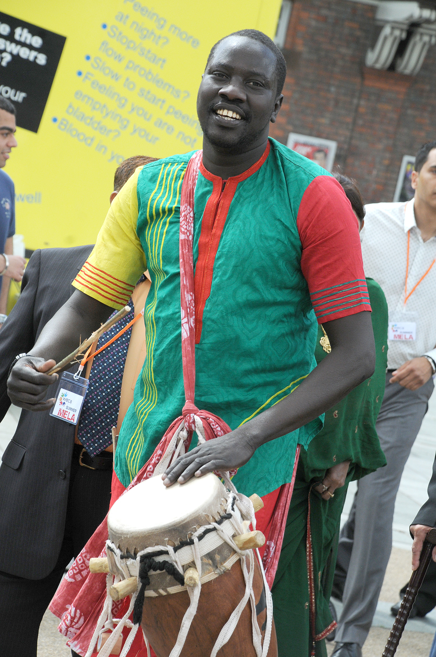 A performer at last year's event