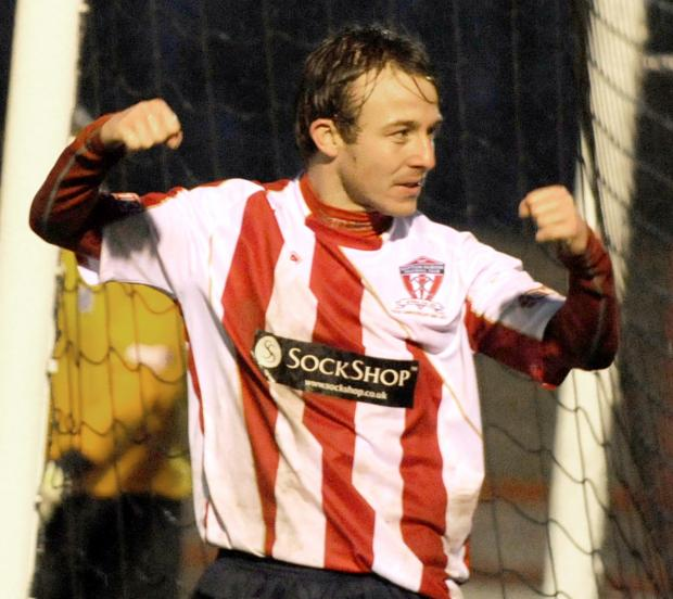Tuck, pictured here for Witton Albion, makes Town his fourth club this season