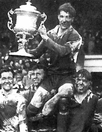 Albert Naughton, the last Warrington captain to lift the championship title, in 1955