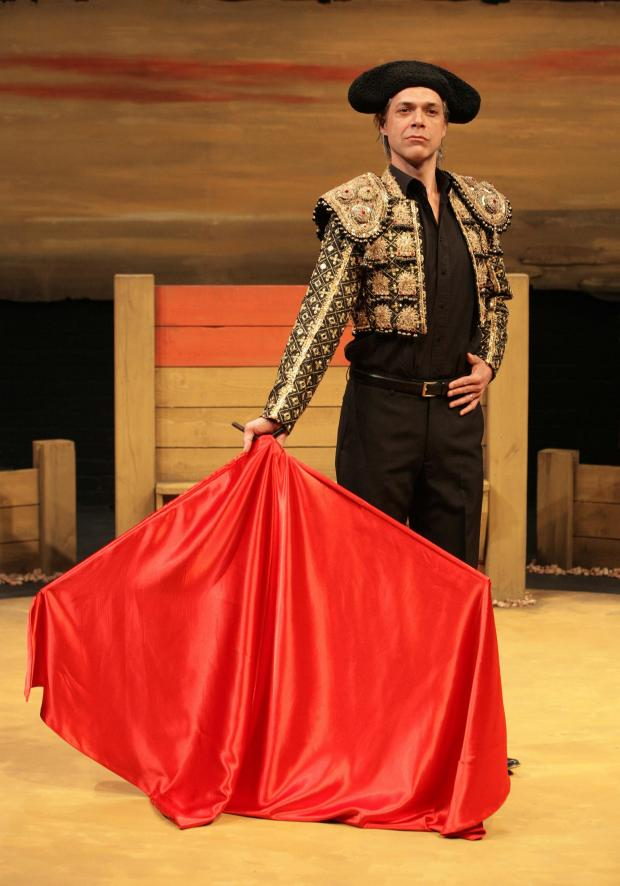 Warrington Guardian: I'm finding the bullfighting scene a real challenge... I play the matador and the bull!