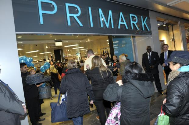 Primark in Golden Square on the day it opened
