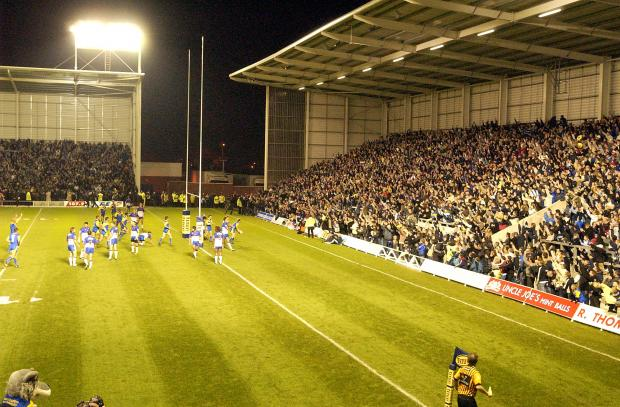 Warrington Guardian: The West Stand on opening night