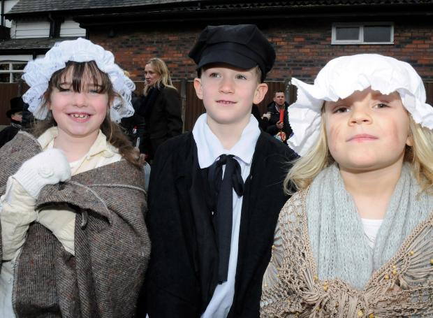 Warrington Guardian: Crowds gathered for Lymm Dickensian festival