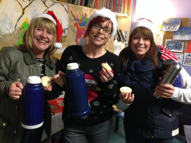 District nurses in Warrington spread Christmas cheer