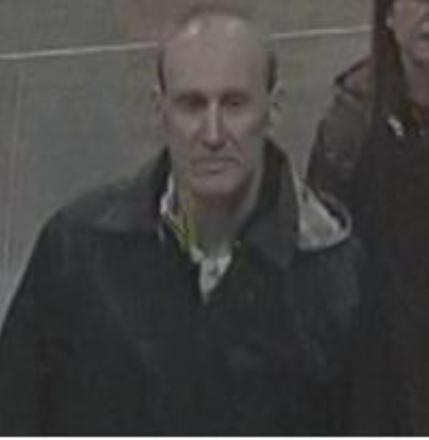 CCTV footage of a man police want to find