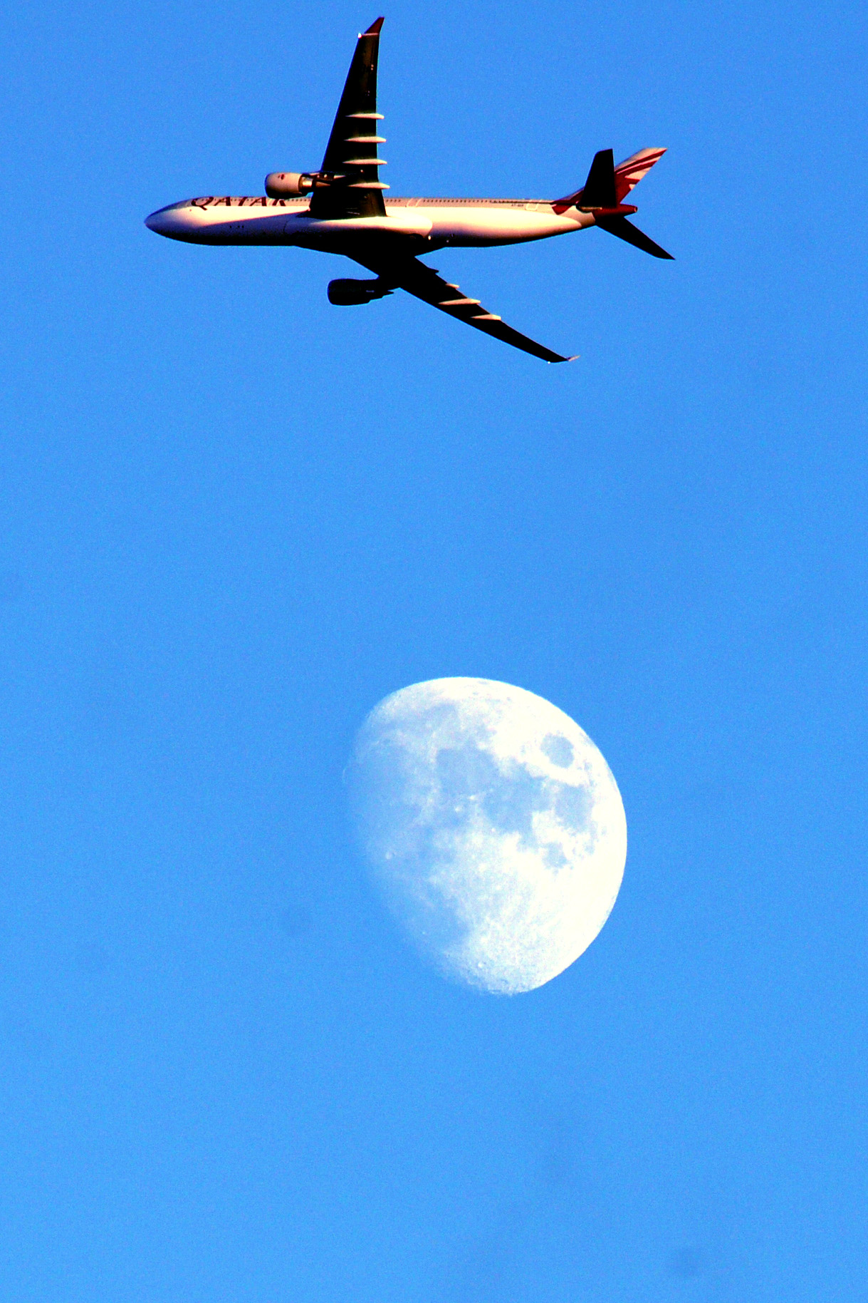 Plane in Great Sankey is over the moon