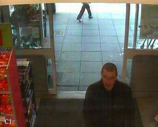 CCTV footage of a man police want to speak to