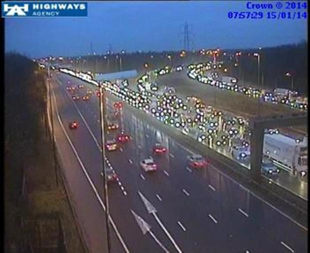 Queues are growing on the motorway