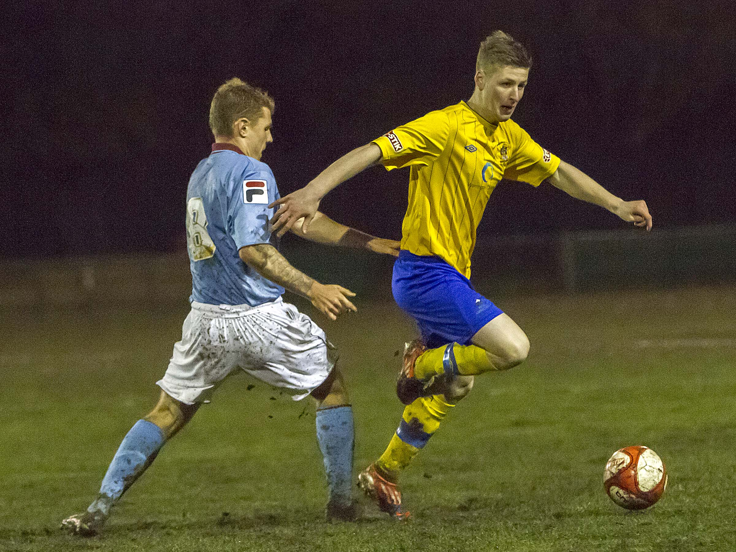 Dylan Glass scored Warrington's only goal. Picture by John Hopkins