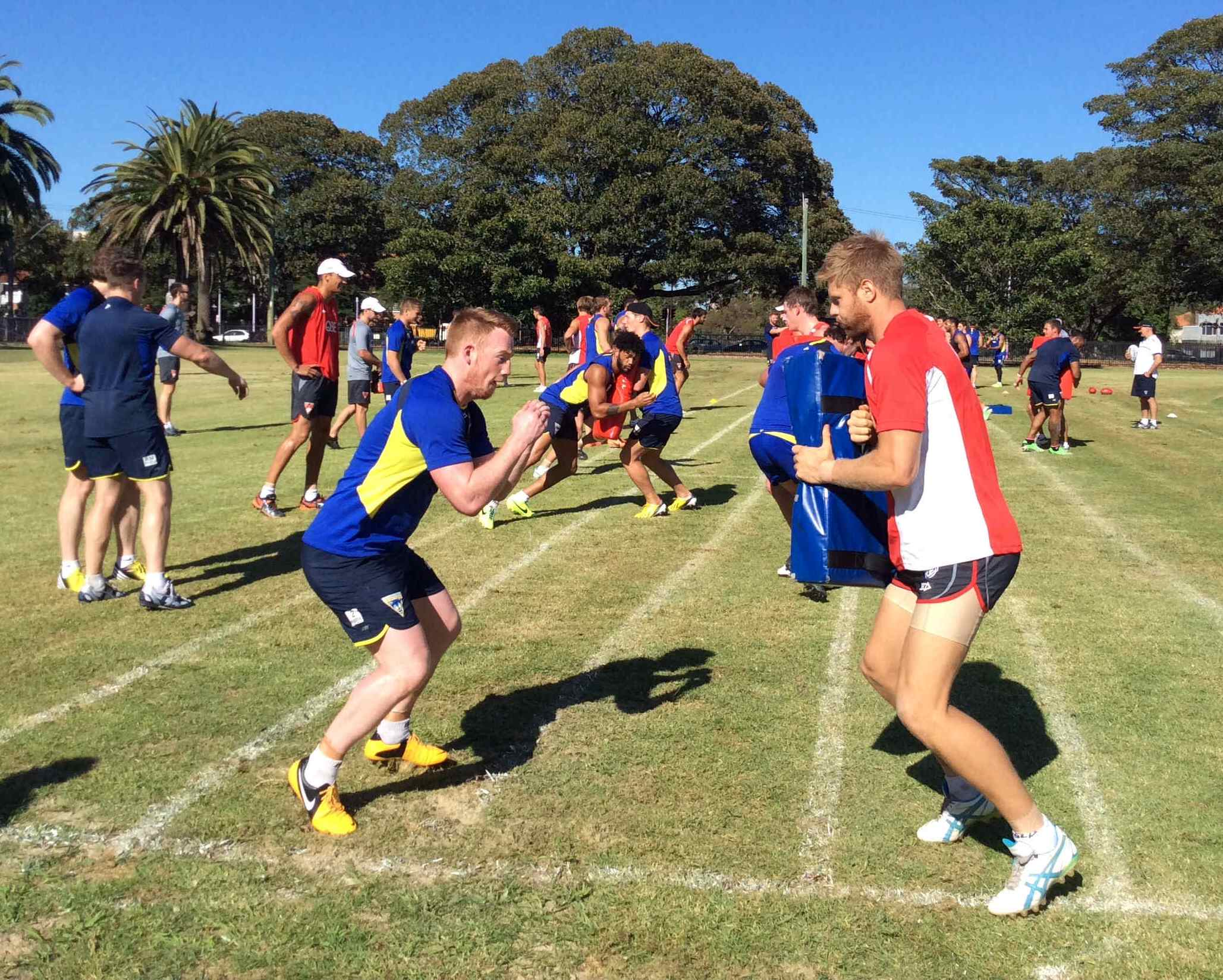 VIDEOS: Shared training with Sydney Swans starts week two of Wolves' training camp in Australi