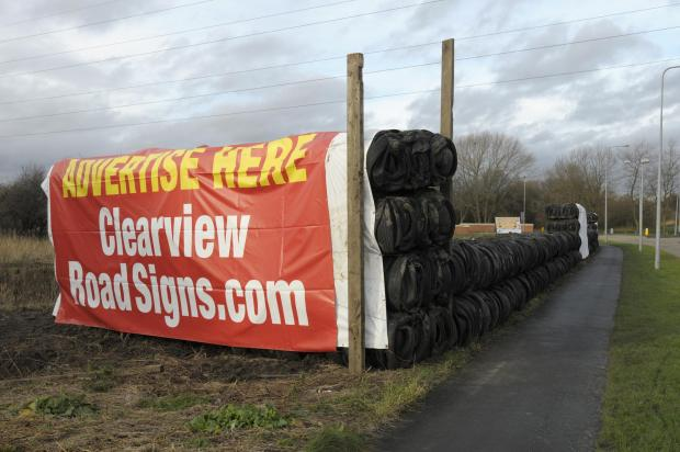 Council takes legal advice over Kingsway tyre 'eyesore