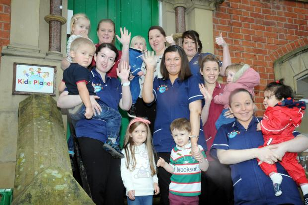 The staff and children at the nursery on Legh Street