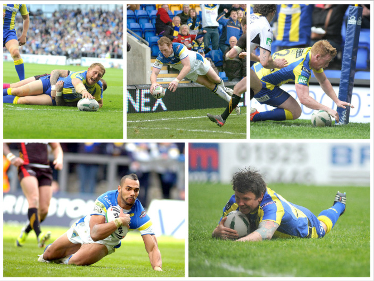 REVEALED: Top Wolves try scorer in first 10 years of matches at The Halliwell Jones Stadium
