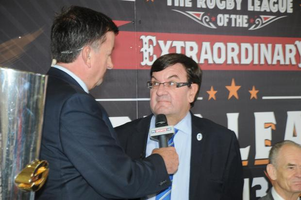 Steven Broomhead at last year's Clubcall announcement