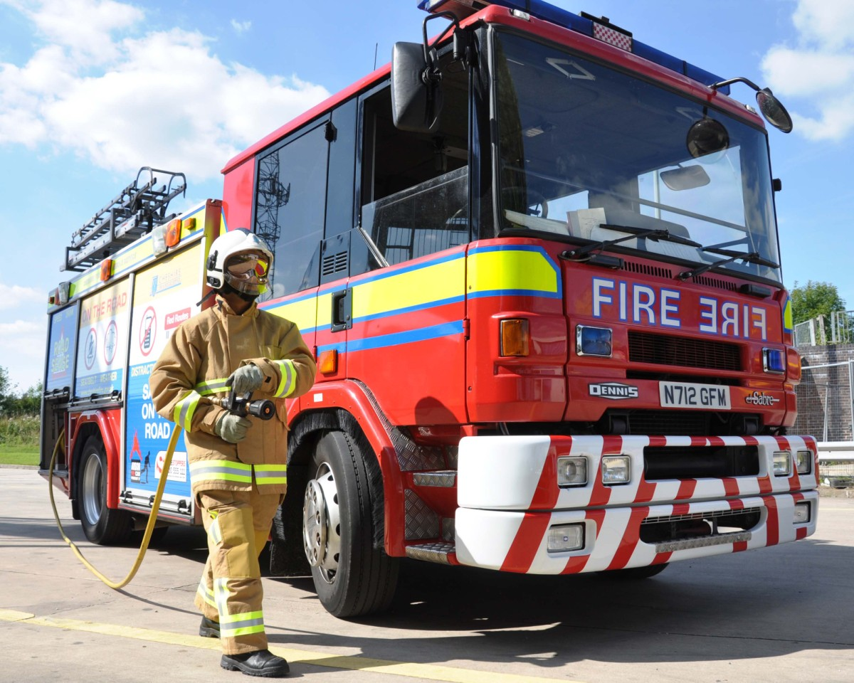 Fire crews called twice to trapped motorists